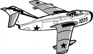 Mig 15 – futuristic looking jet fighter