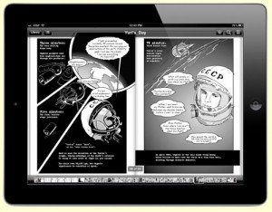 Gagarin in space – graphic novel book