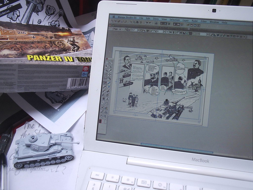Panzer desktop graphic novel study