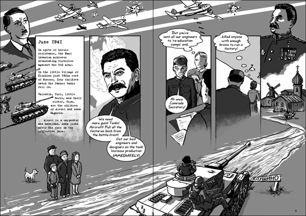 hitler invades Russia. Stalin calls back the engineers from gulag camps
