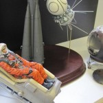 Yuri Gagarin model in space suit