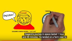Yuri Gagarin animated story