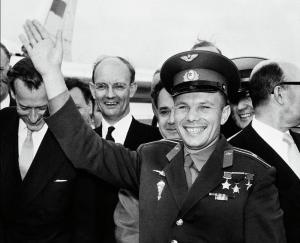 Yuri Gagarin London Airport 1961